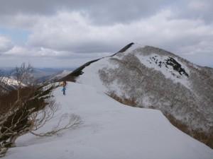 ⑤1186mから広尾岳を目指す
