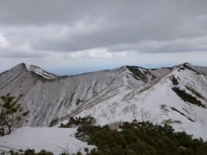 ④1220mから広尾岳を望む
