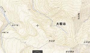 大覗谷地形図