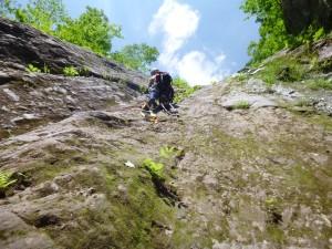 唯一人工登攀の滝です ここも快適