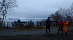 小雨の札幌を出て、現地に着く頃にはモヤが。「雨にあたるよりはいっか~」と出発