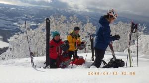 本日は、1,000m付近まで登れました。