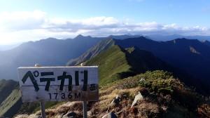 翌日登頂予定だったペテガリを先に踏みました。そのため時間が遅くなる
