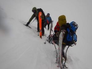 P1023411-1 スキー デポ 1700トラバース途中