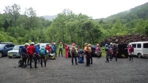 スタッフ13名 入門者11名 前日の入門は豪雨で中止に。4名の新人さんがこの日に追加になりました!