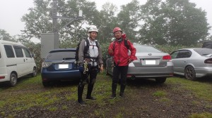 車で長いなが~い林道を走り、ようやく駐車場へ。他にも登山客が沢山。密かに人気の山なのか・・・ガイド登山もあったようです。