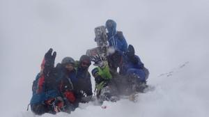 三段山登頂のMパーティー