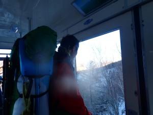 16:00のゴンドラに乗って黄昏れる岳人、Y田さん
